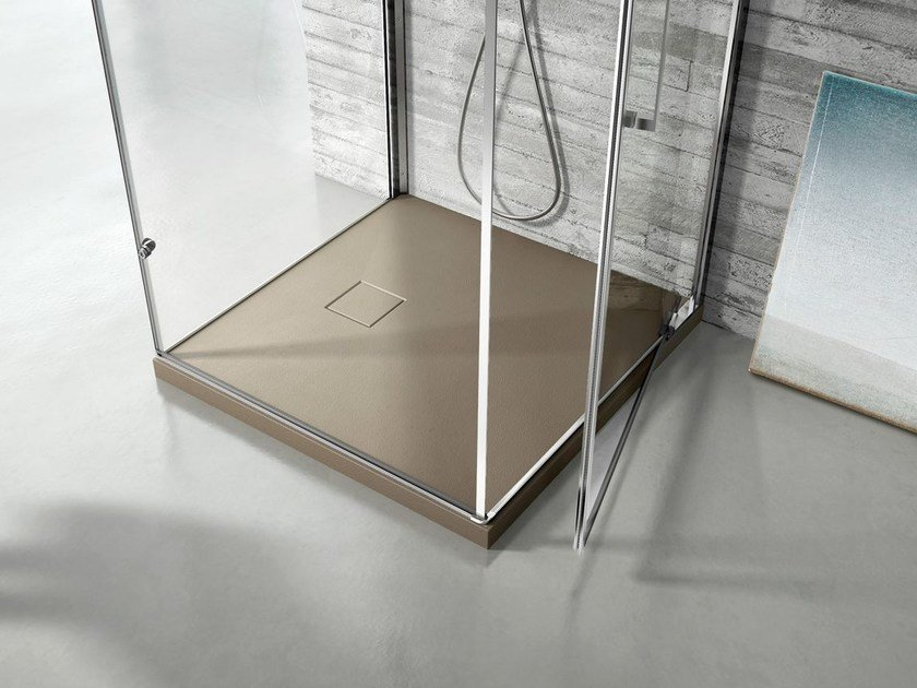 Square Technogel® shower tray JOIN | Square shower tray by Idea