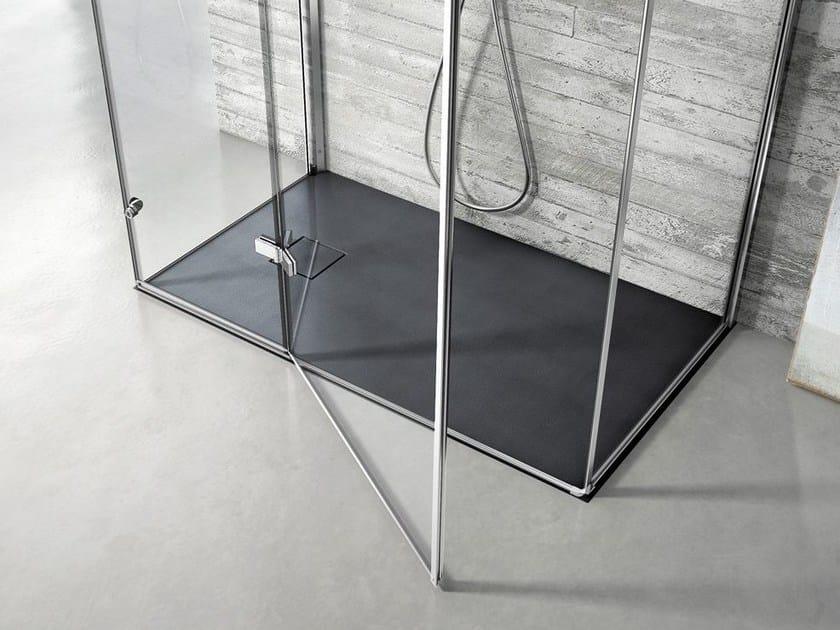 Rectangular Technogel® shower tray JOIN | Rectangular shower tray by DISENIA