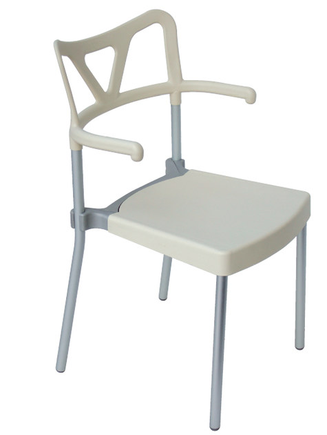 Stackable technopolymer chair with armrests HACKER B by GABER