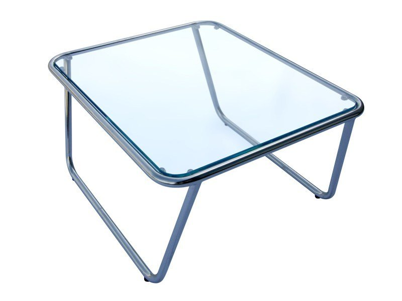 Glass and Stainless Steel garden side table PHOENIX | Garden side table by Sérénité Luxury Monaco