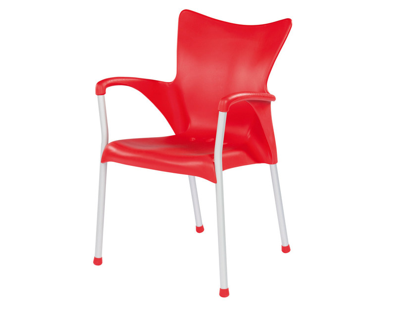 Stackable technopolymer chair with armrests LADY by GABER