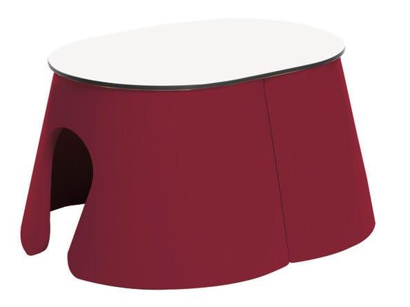 Technopolymer coffee table FLOWER   Technopolymer coffee table by GABER