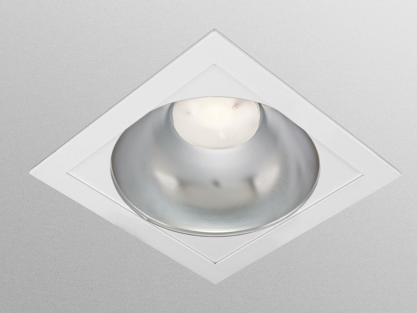 LED direct light recessed ceiling lamp SQUARE by GEWISS