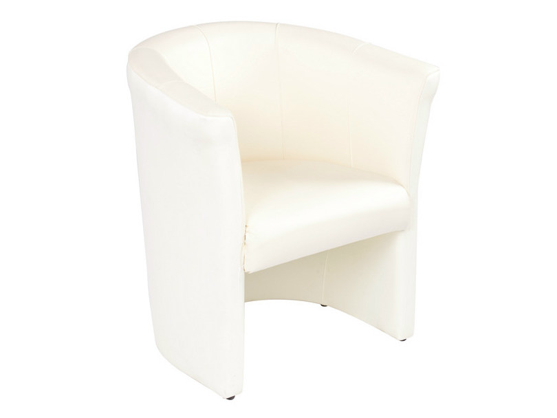 Upholstered leather armchair DUCA 1 by GABER