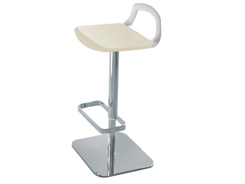 Height-adjustable technopolymer stool POP | Technopolymer stool by GABER