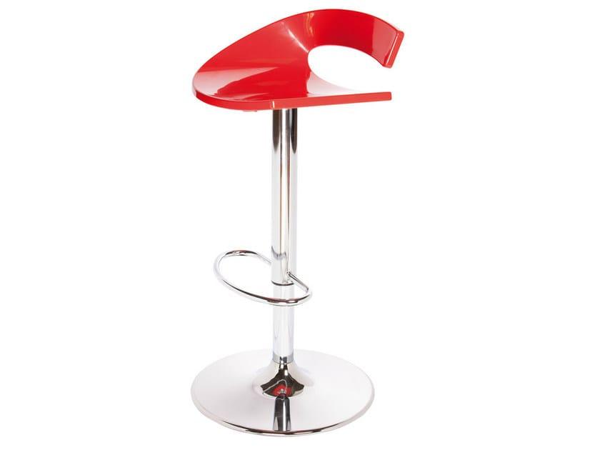 Height-adjustable technopolymer stool SWING AV by GABER