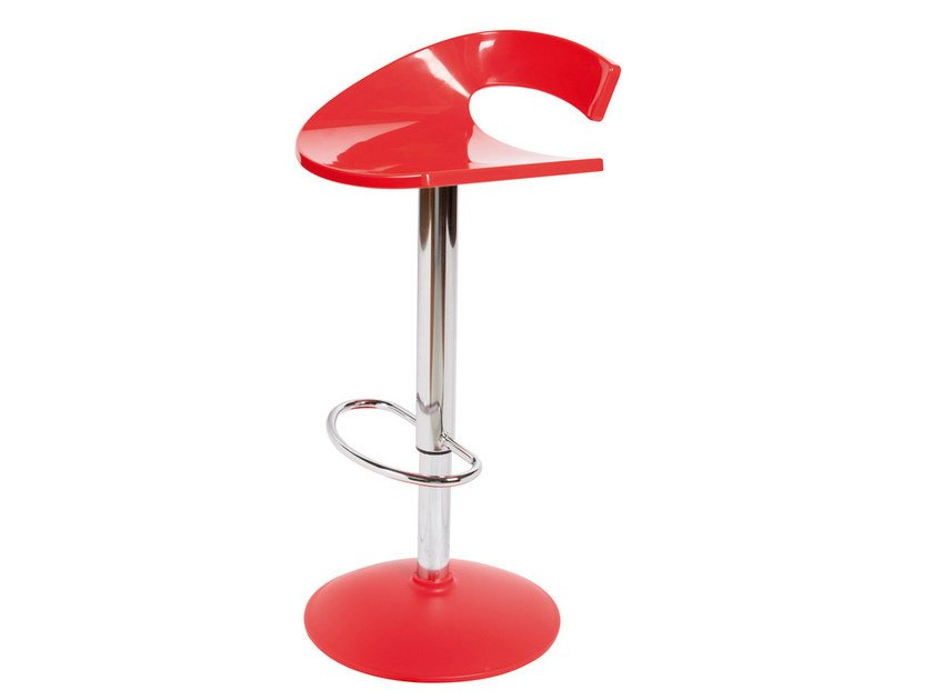 Height-adjustable swivel technopolymer stool SWING A by GABER
