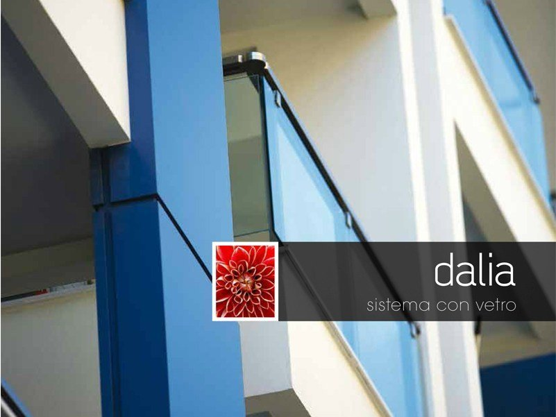 Glass outdoor railing DALIA by Persea