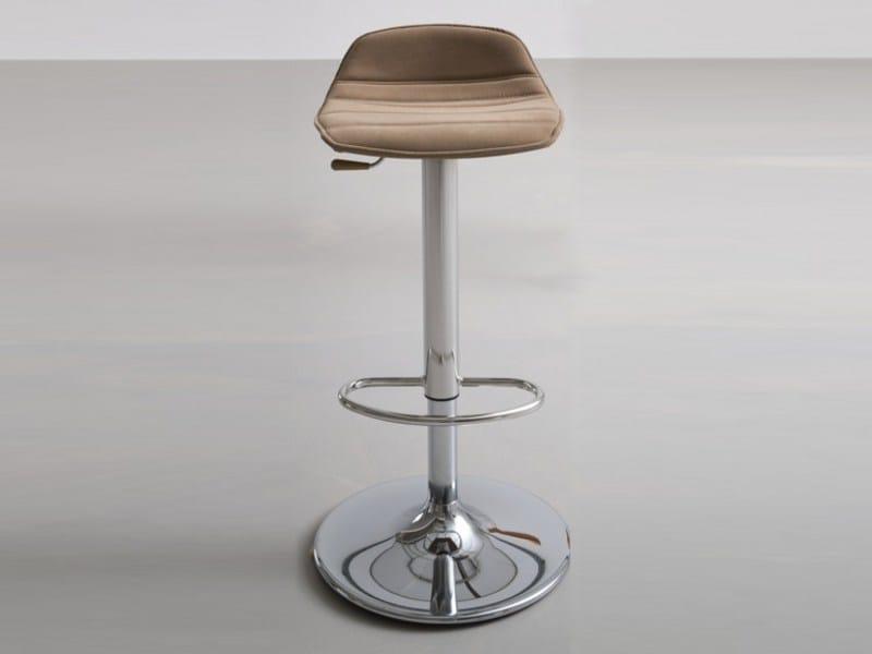 Height-adjustable swivel upholstered stool ALHAMBRA 97AV by GABER
