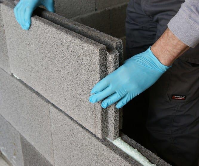 LECABLOCCO TRAMEZZA LECALITE Posa a secco con schiuma poliuretanica per murature