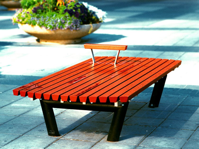 Backless pine Bench SERGEL | Backless Bench by Nola Industrier