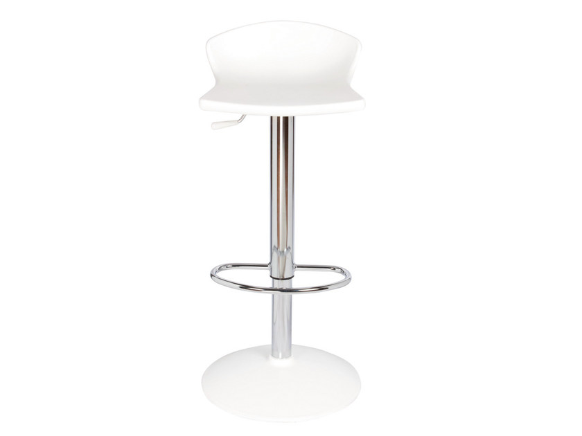 Height-adjustable metal stool GULLIVER by GABER