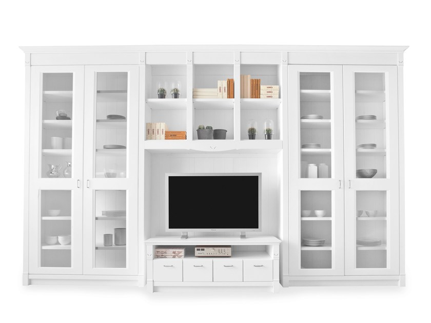 Sectional solid wood storage wall ENGLISH MOOD | Storage wall by Minacciolo