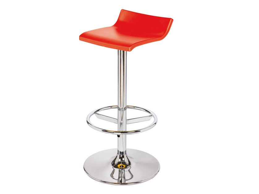 High swivel technopolymer stool SQUARE AV by GABER