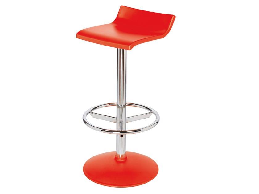 High swivel technopolymer stool SQUARE by GABER