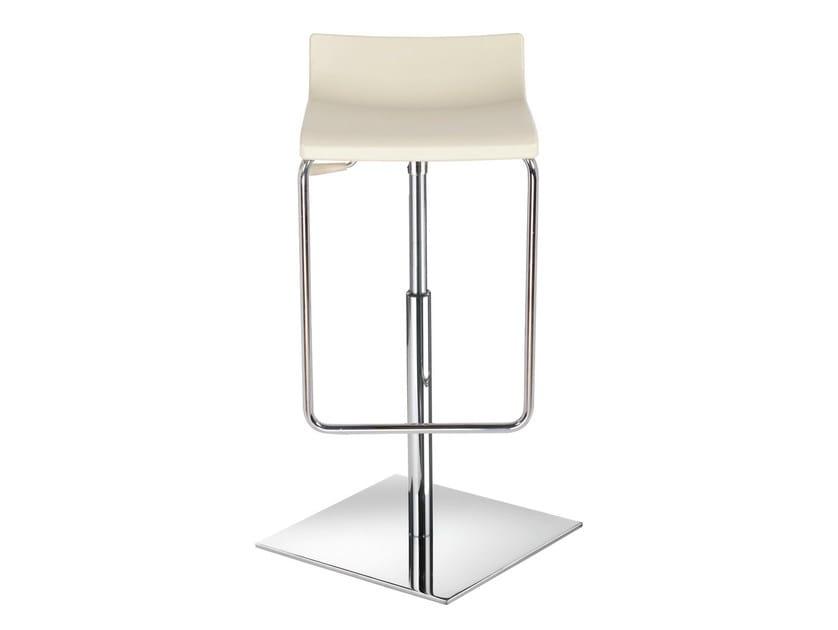 Height-adjustable swivel technopolymer stool MICRO X by GABER