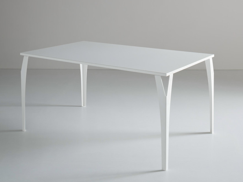Rectangular metal table CHARME by GABER