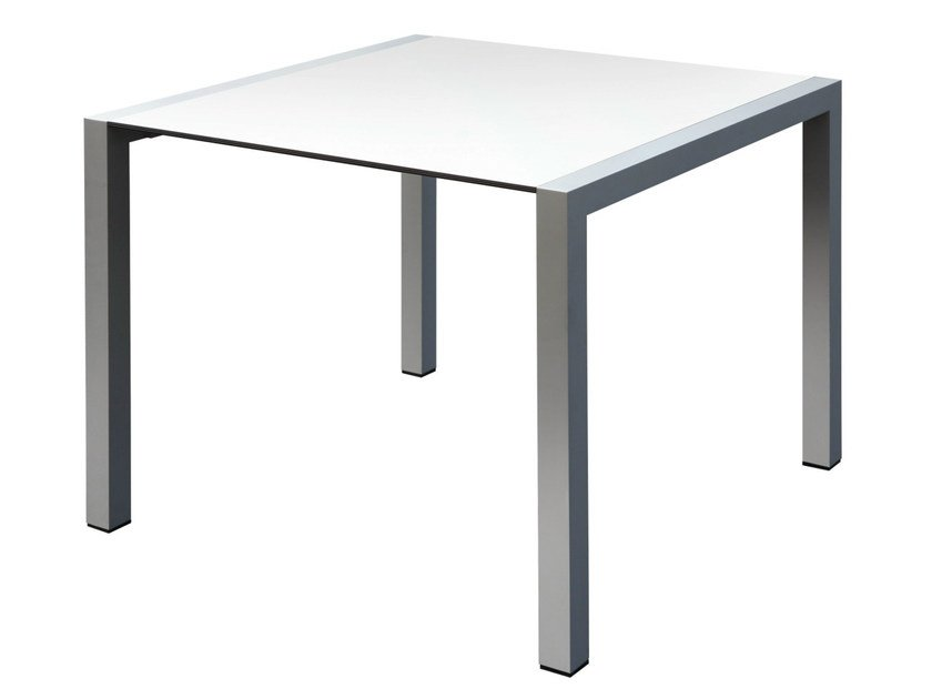 Square aluminium table SPACE | Square table by GABER