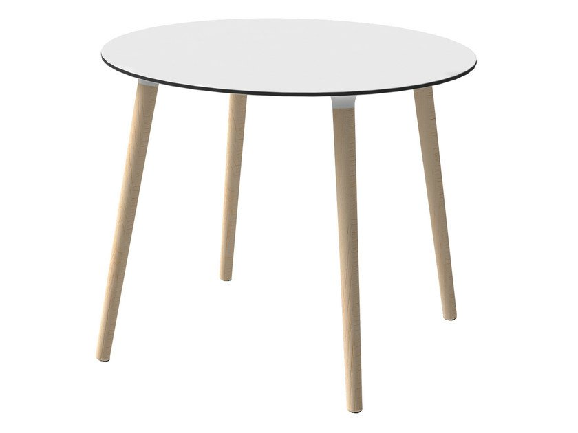 Round beech coffee table STEFANO | Round coffee table by GABER