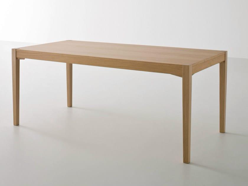 Rectangular oak table TOGETHER | Rectangular table by GABER