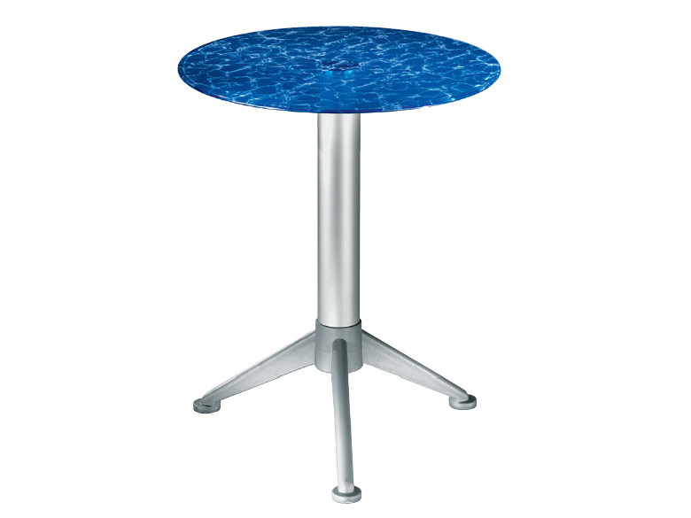 Round glass coffee table Glass coffee table by GABER
