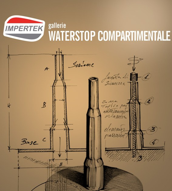 Compartimentation Waterstop Outdoor laying waterstop by IMPERTEK