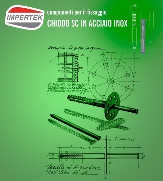Stainless steel nail for concrete Nail by IMPERTEK