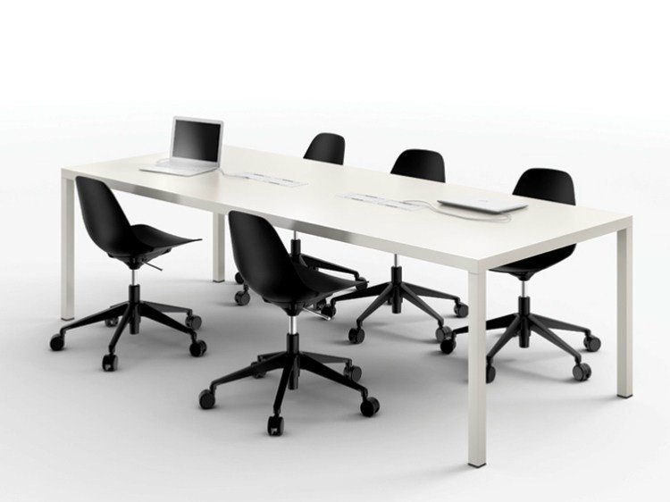 Rectangular metal meeting table ILTAVOLO | Meeting table by Opinion Ciatti