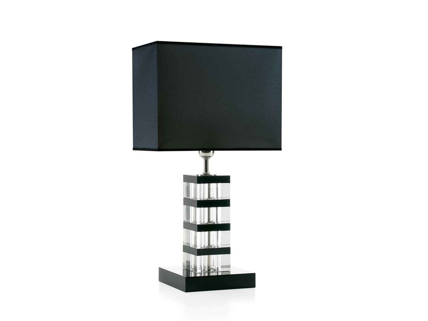 Wood and glass table lamp MANHATTAN by ENVY