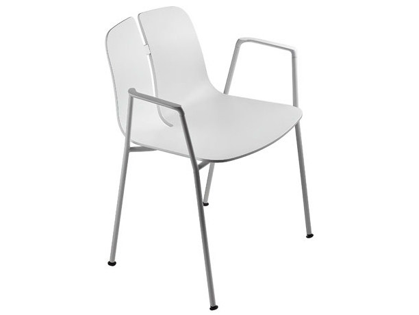 Wooden chair with armrests LINK | Chair with armrests by Lapalma