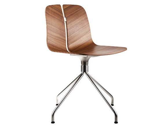 Trestle-based wooden chair LINK | Trestle-based chair by Lapalma