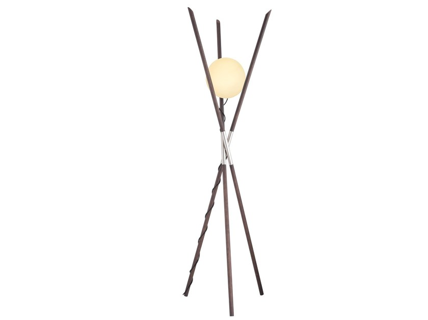 Ash floor lamp with dimmer MOON by ENVY