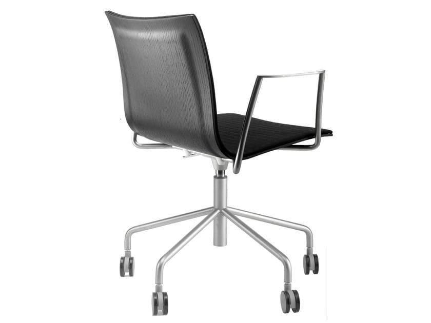 Sedie Da Ufficio Con Braccioli Senza Ruote : Thin sedia ufficio operativa by lapalma design karri monni
