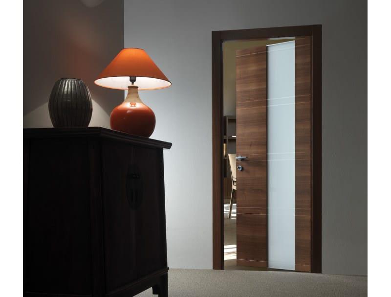 Porta a battente in legno e vetro INTAGLIO / 10 VETRO - FERREROLEGNO