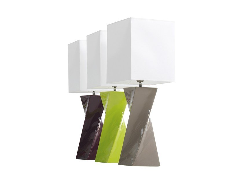 Ceramic table lamp TWISS by ENVY
