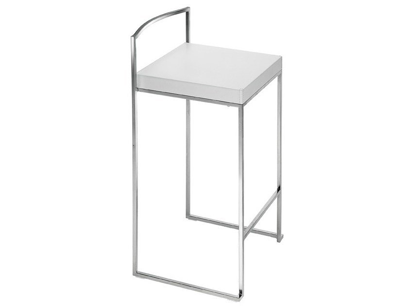 High stackable stool CUBO by Lapalma