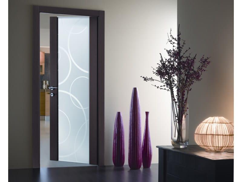 Hinged crystal door GLASS by FERREROLEGNO