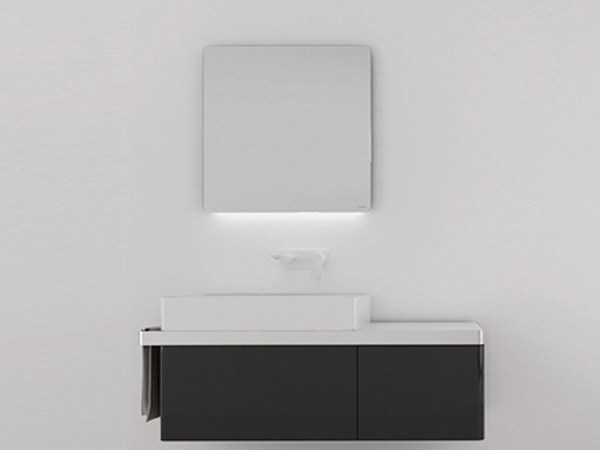 Bathroom mirror with integrated lighting STRUCTURE | Bathroom mirror by INBANI