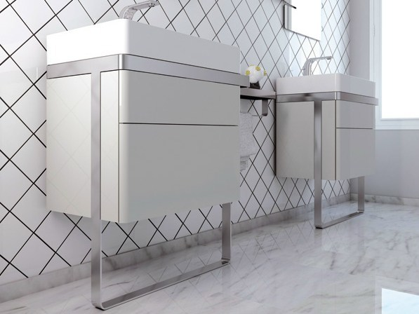 Vanity unit with drawers STRUCTURE   Vanity unit by INBANI