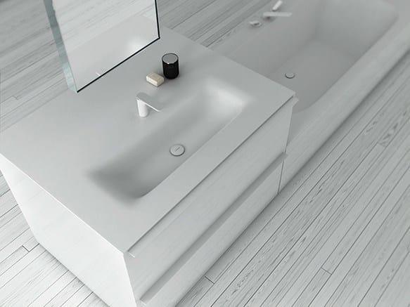 Corian® washbasin KA | Rectangular washbasin by INBANI