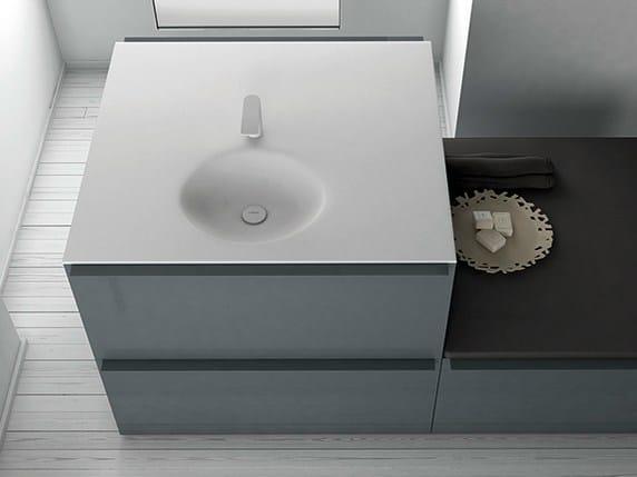 Square Corian® washbasin KA | Square washbasin by INBANI