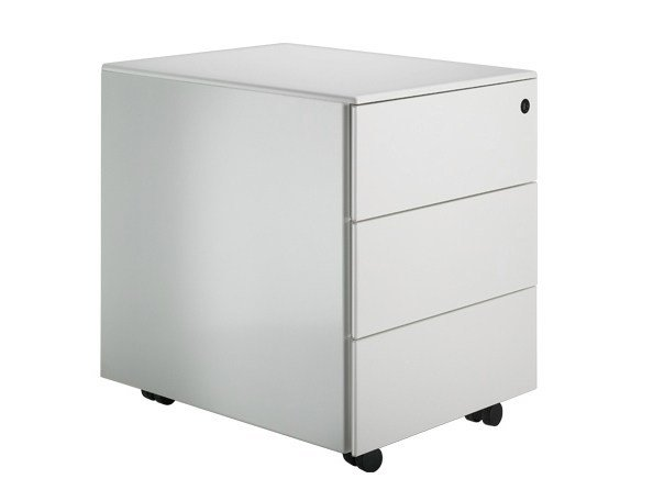 Plate office drawer unit with casters C1 C3 by Lapalma