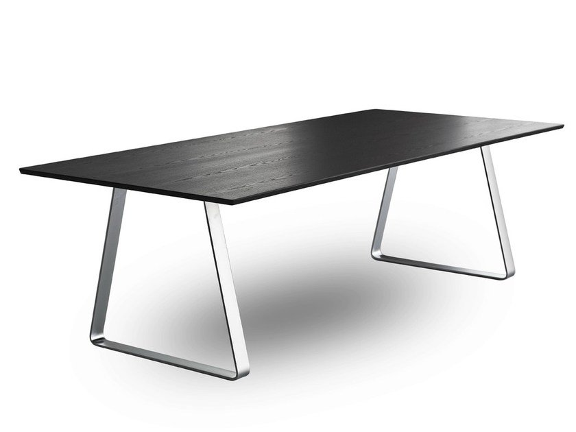 Rectangular multi-layer wood meeting table MUTKA by Lapalma
