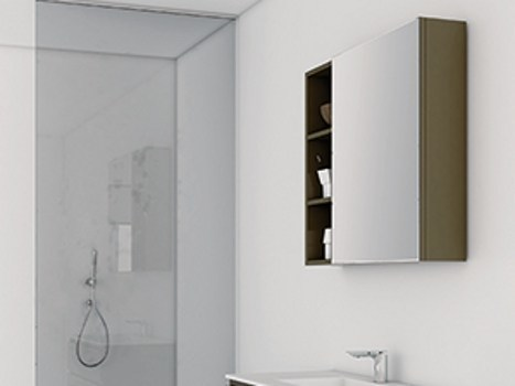 Bathroom mirror with cabinet STRATO | Bathroom mirror by INBANI