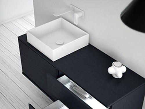 Countertop Solid Surface washbasin STRATO | Countertop washbasin by INBANI