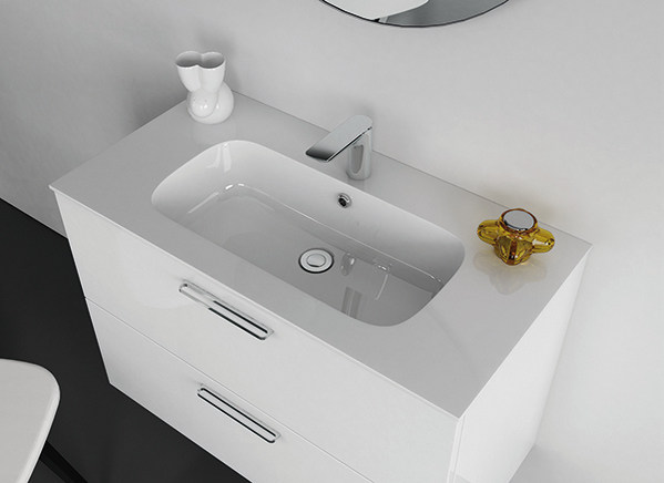 Undermount Mineralmarmo® washbasin STRATO | Undermount washbasin by INBANI