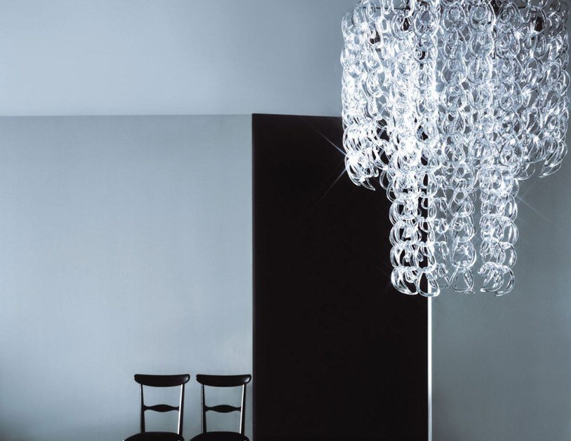 Crystal chandelier P-LIGHT by Porro