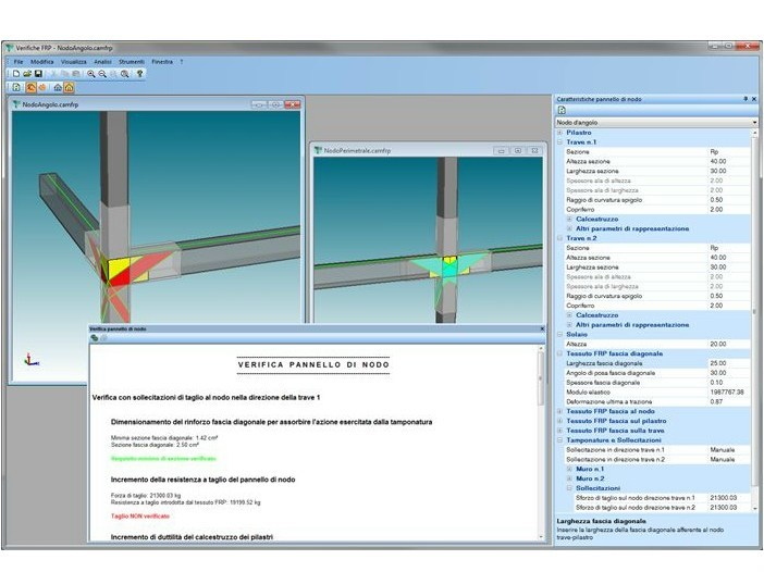 Structural calculation for pre-compressed reinforced concrete VERIFICHE RINFORZI by AMV