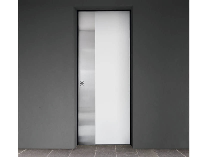 Stainless steel and wood safety door SUPERIOR - 16.5026 M16 by Bauxt