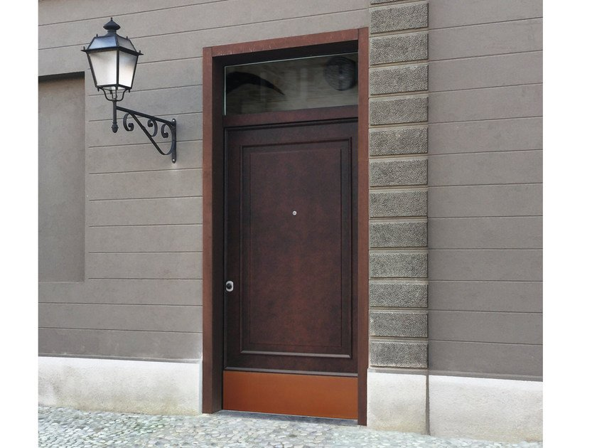 Lacquered okoumé safety door SUPERIOR - 16.5052 M16 by Bauxt